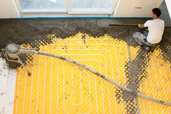 Renovatie vloerverwarming