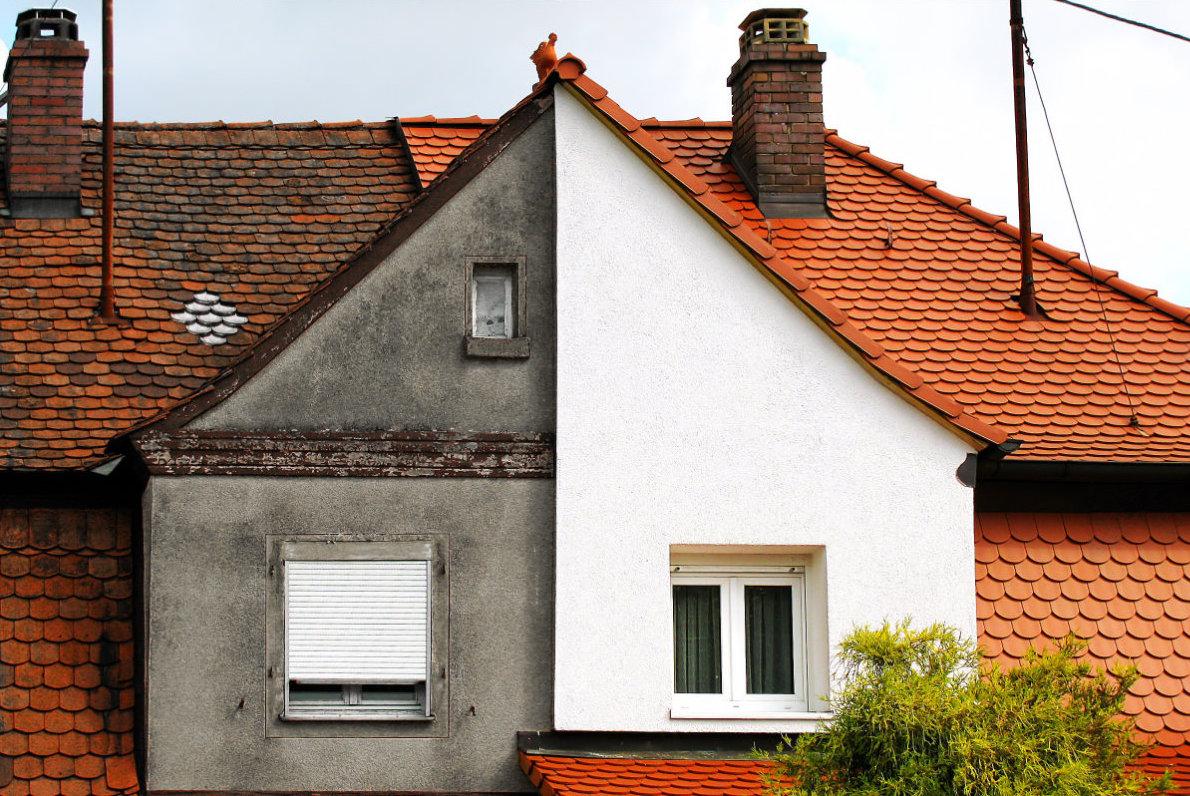 Voorbeeld van ontmossen van daken
